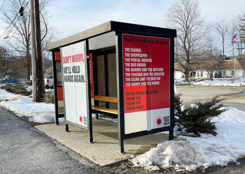 Custom Bus Shelter Graphics