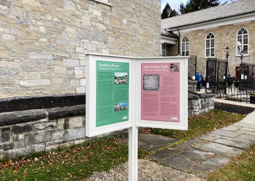 Exterior museum exhibit posters