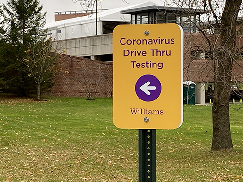 Covid-19 Test site directional sign